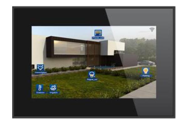 pantalla tactil servidor integrado