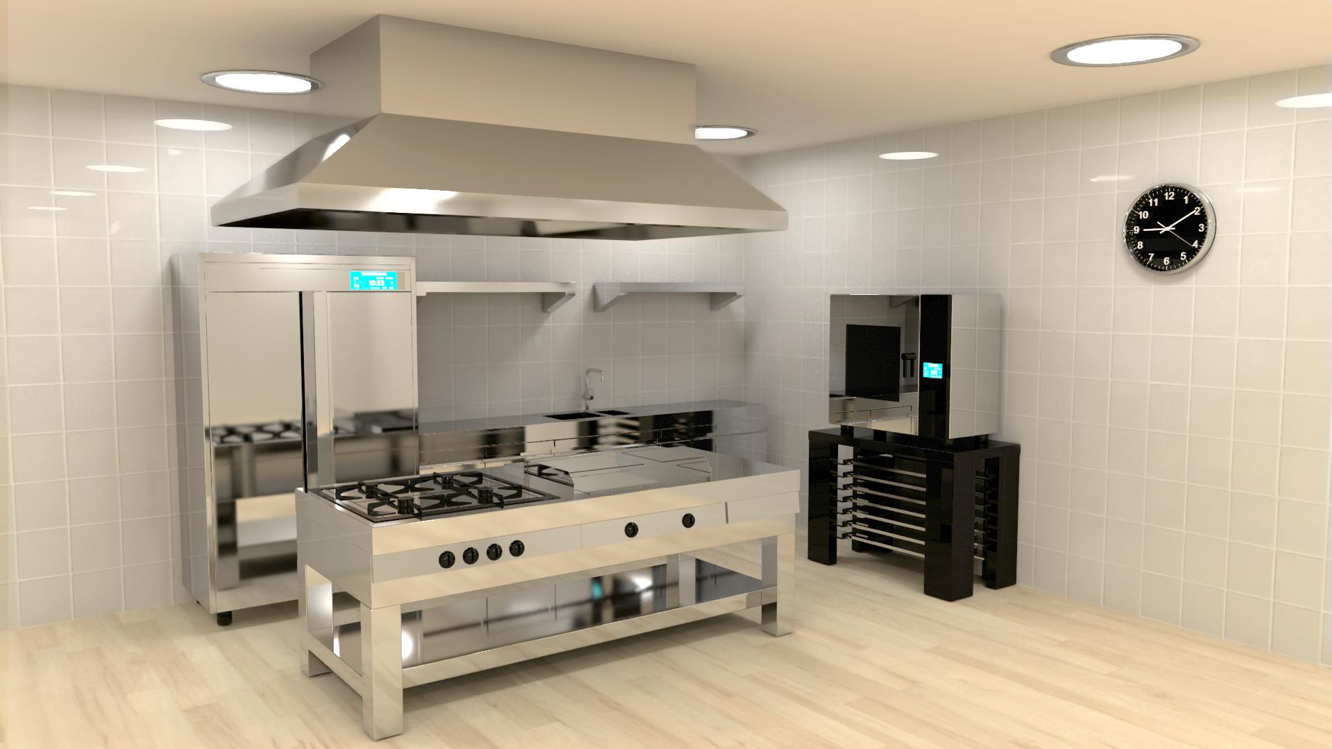 Hotel restaurante domoticall - Decoracion de cocinas industriales ...